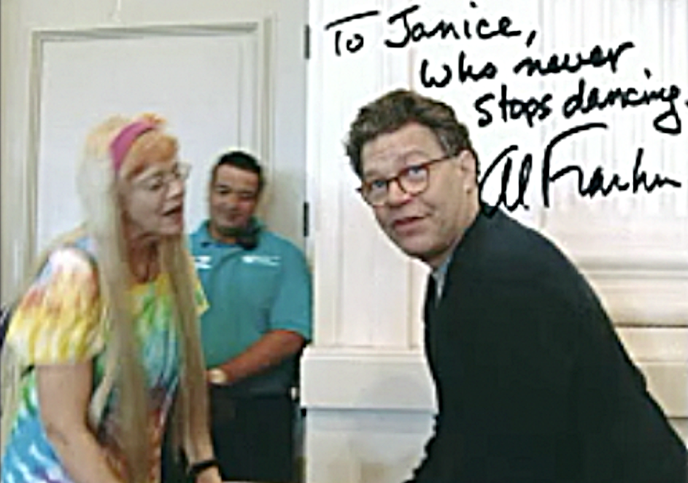 I met Al Franken in Portland. There was music and I danced.